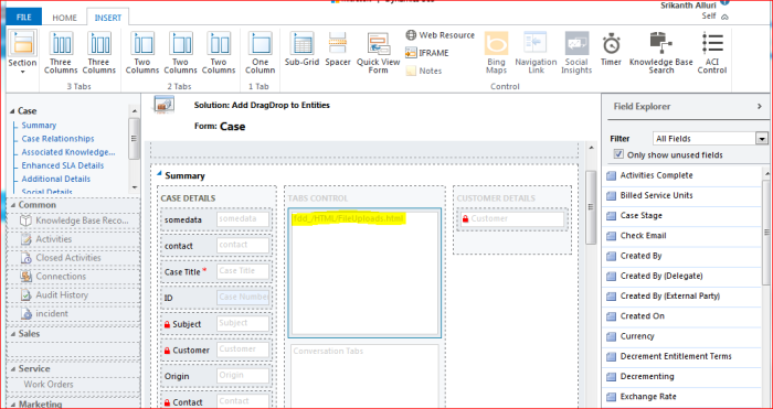 Drag/Drop files into CRM to create Attachments  | CRM Ramblings