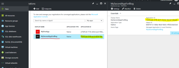 Generate Client Id for a application in Azure AD