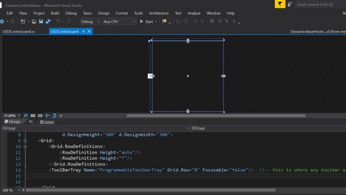 Visual Studio project for USD Custom Control