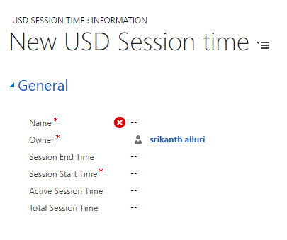 Session History entity